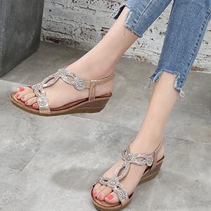 Bohemian Beach Rhinestone Sandals Shoes