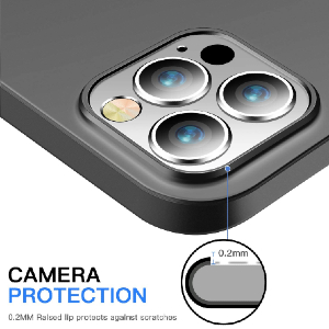 Camera protected with raised ring