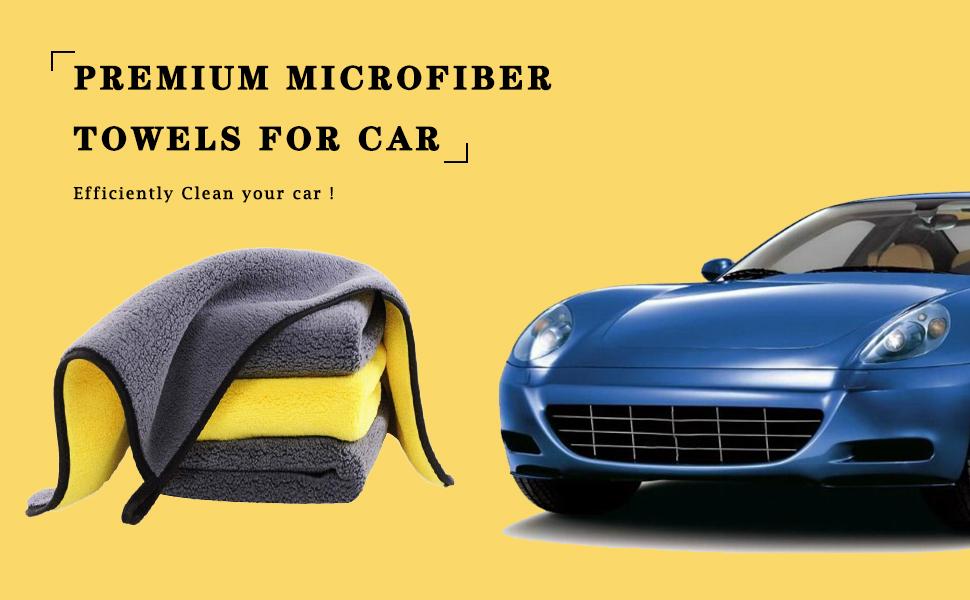 Premium microfiber towels for car