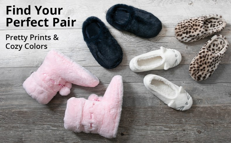 Variety of slippers on grey background