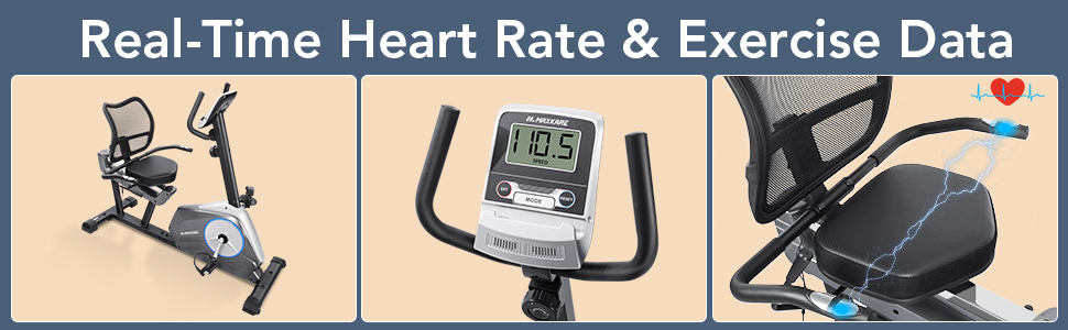 Real-time heart rate and exercise date