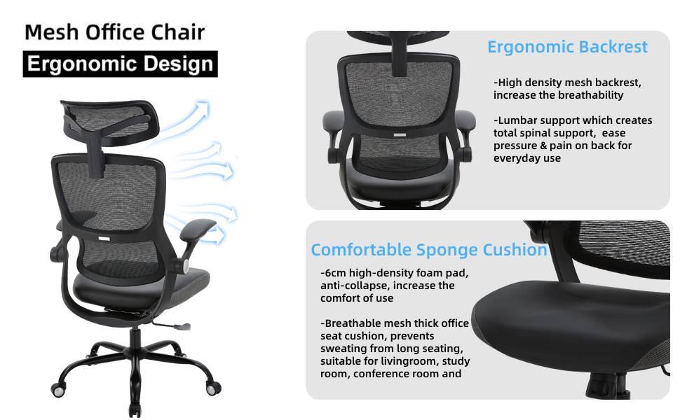 ergonomic design desk chair