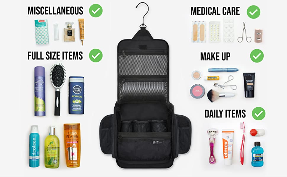 Hanging Travel Toiletry Bag for Men and Women - Large ...
