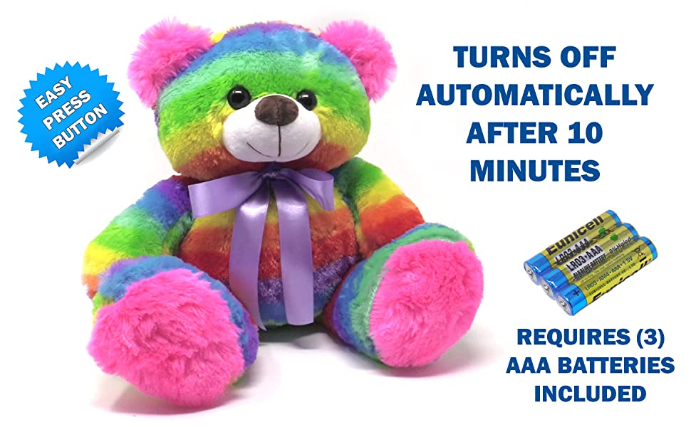 BATTERY OPERATED LIGHT UP STUFFED ANIMAL NIGHTLIGHT GIFTS FOR TODDLERS GIRLS BOYS AGED 2 3 4 6