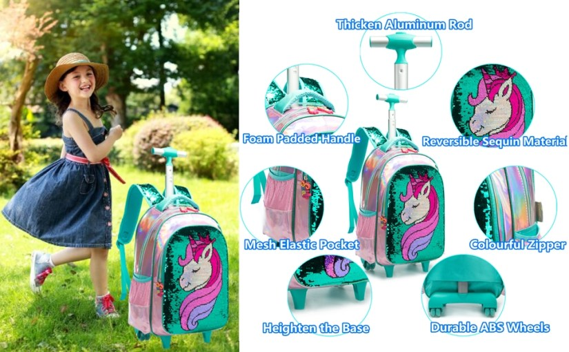 girls rolling backpack
