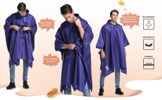 rain poncho for men
