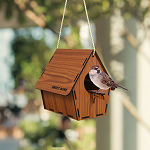 deskart hanging bird nest house for sparrow balcony garden hummingbird bird feeder bird home tree