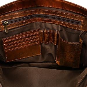 handcrafted premium quality Genuine Leather Vintage travel Laptop Canvas Messenger Satchel Bag