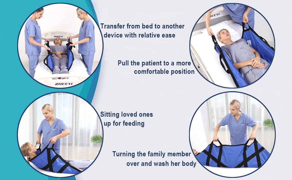 transfer turn over sit up pull reposition patient family member