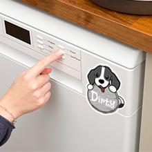 Large Cute Dog Dishwasher Magnet Sign