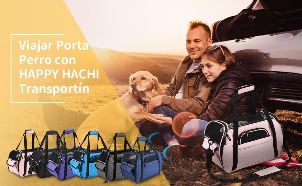Viajar Porta Perro con HAPPY HACHI Transportín