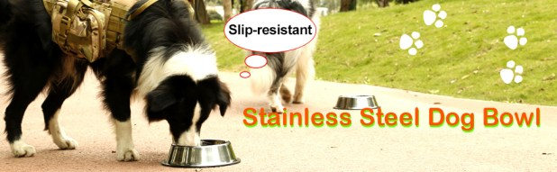 dog stainless steel bowls