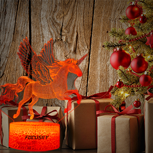 Focusky Unicorn Gifts night light for girls unicorn lamp birthday gifts 234567