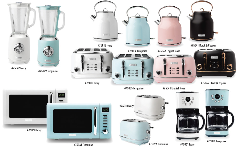 haden 75004, haden 75005, haden 75012, haden 75013, haden 32, haden 31, haden retro appliances