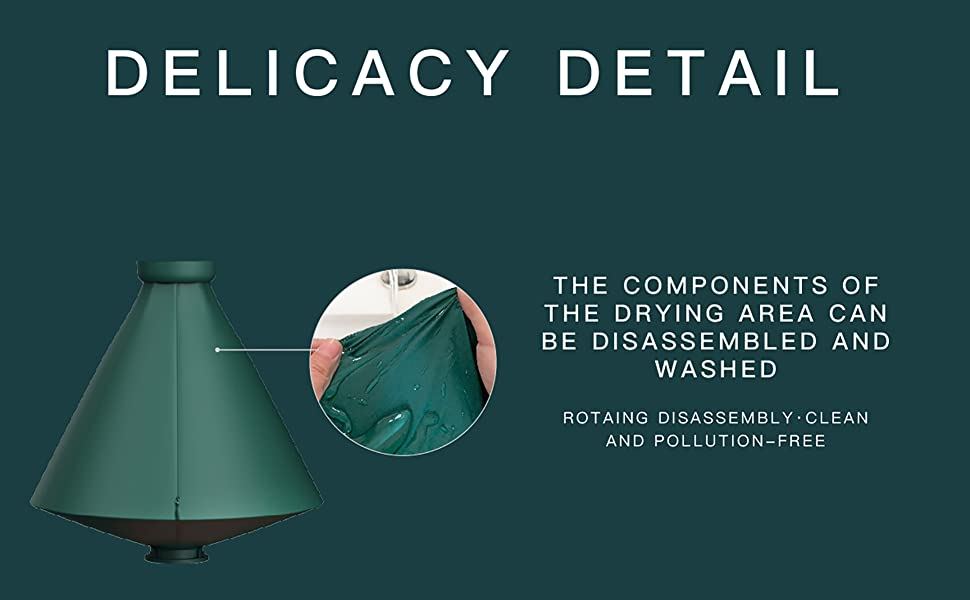 portable dryer delicacy detail