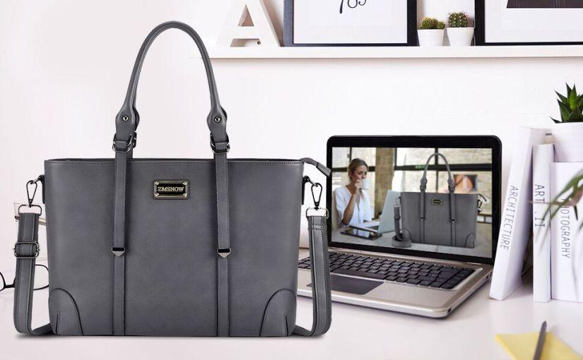gray laptop bag