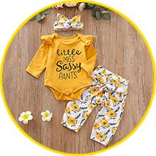 letter print clothes set