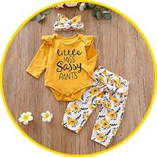 letter print clothes set