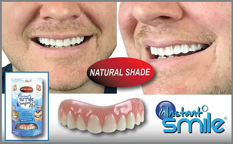 Instant Smile Natural White Teeth uppers - cosmetic teeth