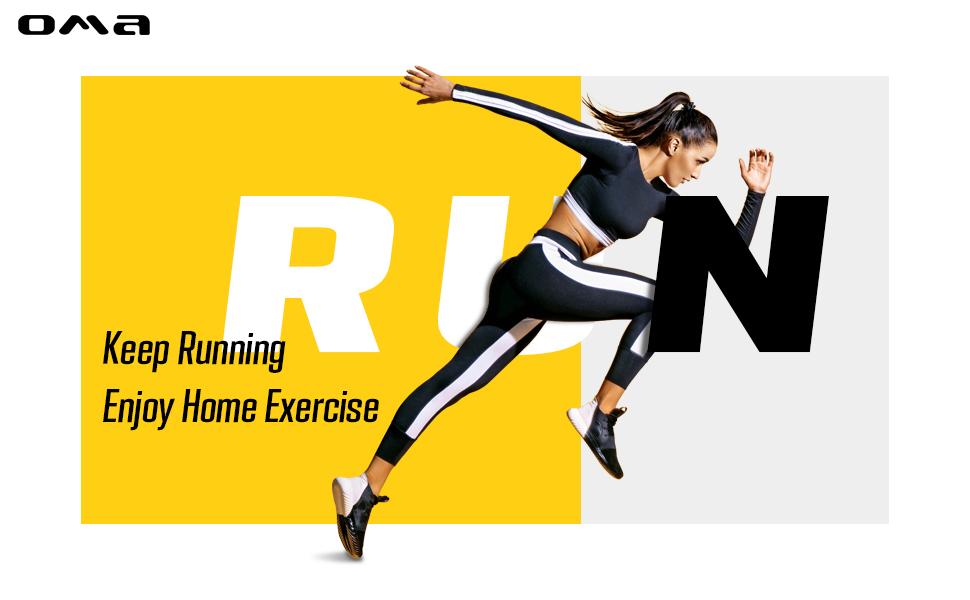 Keep Running  Enjoy Home Exercise