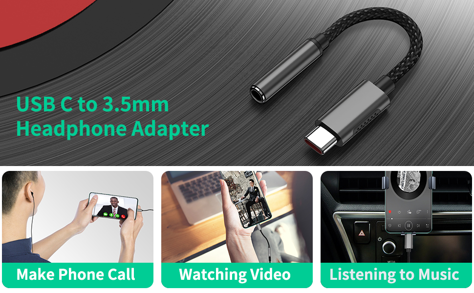 USB C Headphone Adapter