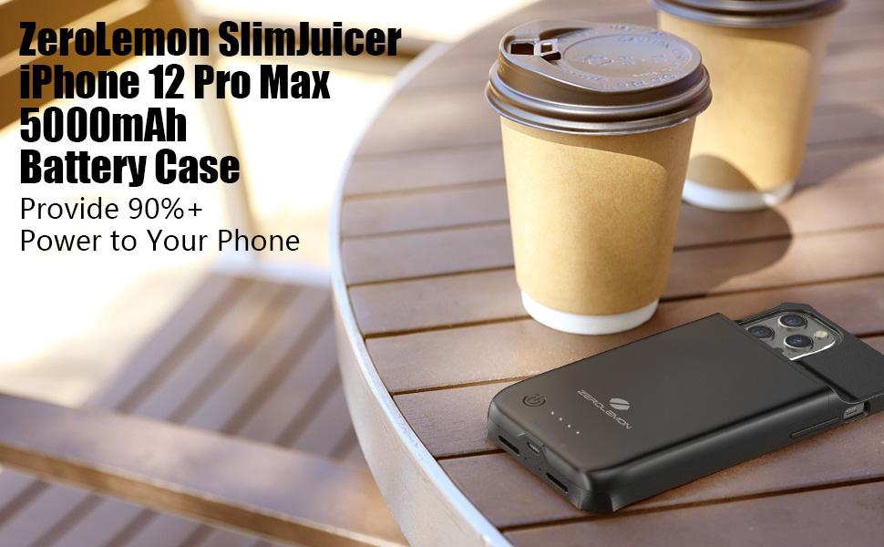 ZeroLemon iPhone 12 Pro Max 5000mAh Battery Case