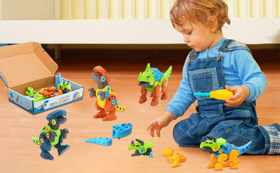 build dinosaur toy