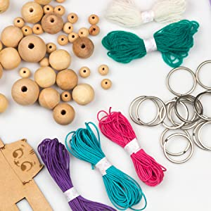 Diy keychain making, keyring art and craft supplies, art materials for boys and girls