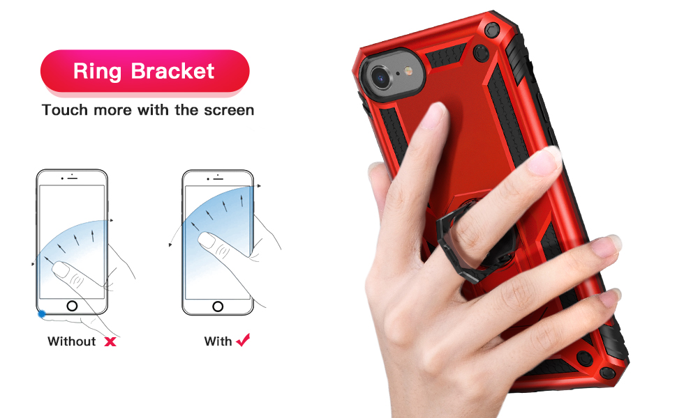 IDweel iPhone SE 2020 Case with Tempered Glass Screen Protector