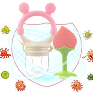 baby teething toys for babies 6-12 0-6 months baby teether fresh food fruit pacifiers feeders