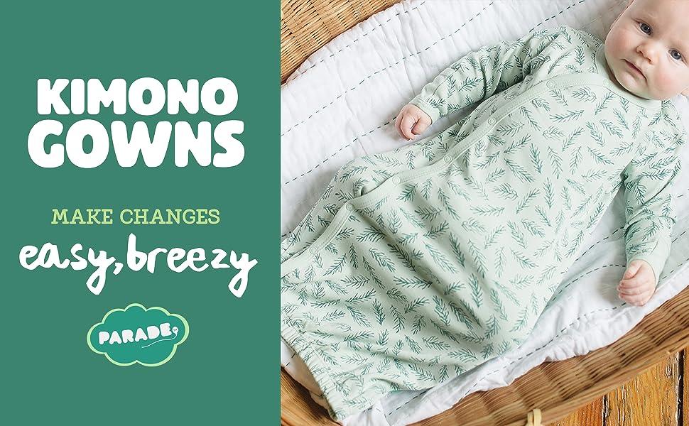 baby kimono newborn parade organic cotton boy sacks gowns girl night nightgowns color apparel