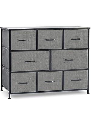 8 Drawers Fabric Storage Organizer Clothes Drawer Dresser, Dresser Storage Tower for Bedroom