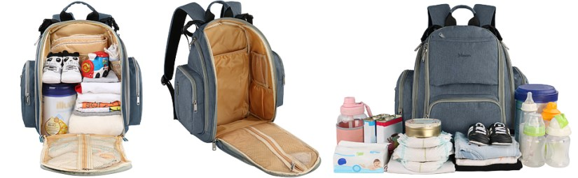 Large space for diaper bag