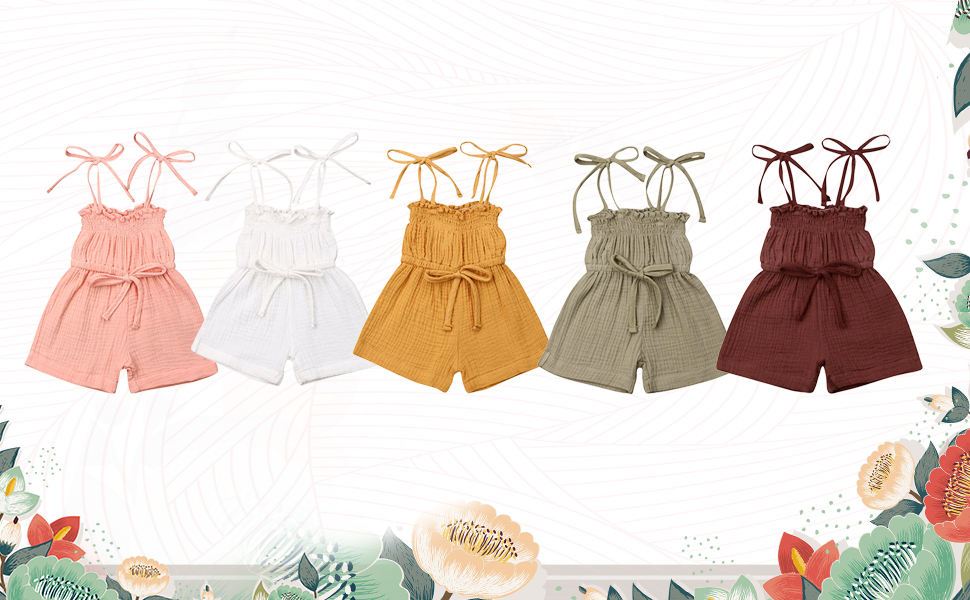 toddler girl rompers 3t 4t 5t 2t solid color clothes summer outfits cute kids clothing set linen