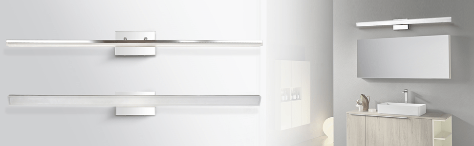 mirrea 48in modern LED vanity light for bathroom lighting dimmable 46w