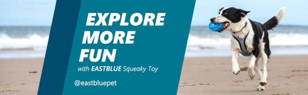 EASTBLUE Squeaky Dog Toys for Aggressive Chewers