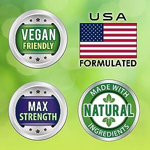 vegan maximum strength natural herbal adaptogen stamina endurance antioxidant energy anti-aging