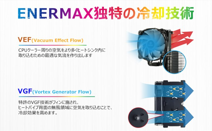 ENERMAX ETS-F40-BK-ARGB 独自の冷却技術