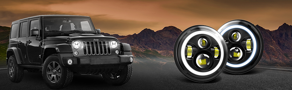 Amber Turn Signal Lights High/Low Beam For Jeep Wrangler JK LJ CJ Hummer H1 H2