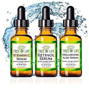 Vitamin C Serum Retinol Cream Hyaluronic Acid Moisturizer Face and Skin Anti Aging Face Skin Care 01