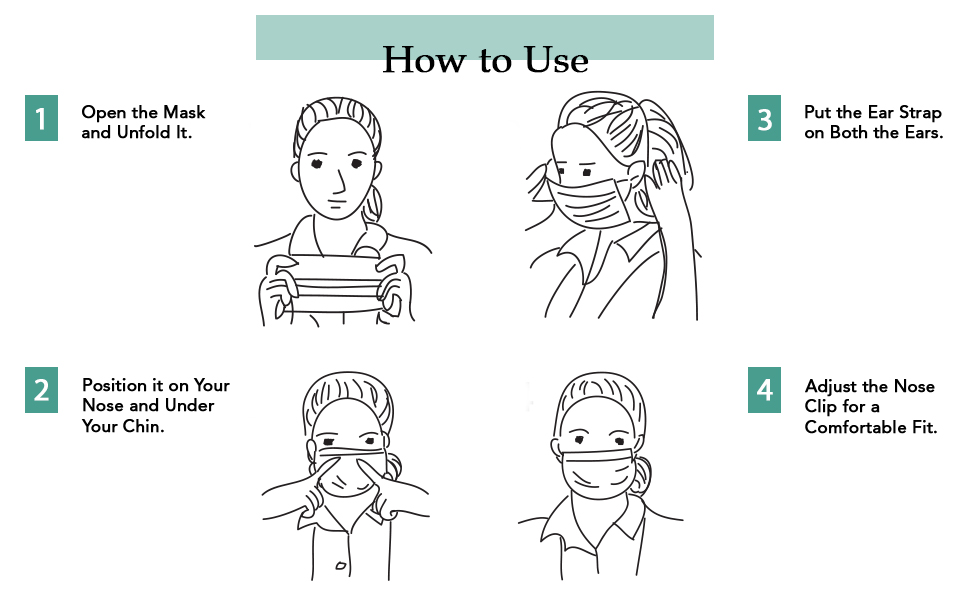 Our KN95 face mask is easy to use