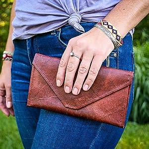 womens vegan leather clutch wallet