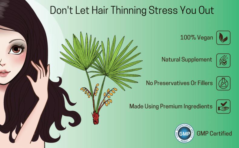 saw palmetto hair growth capsules thin thick fall regain