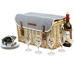 wine basket with table