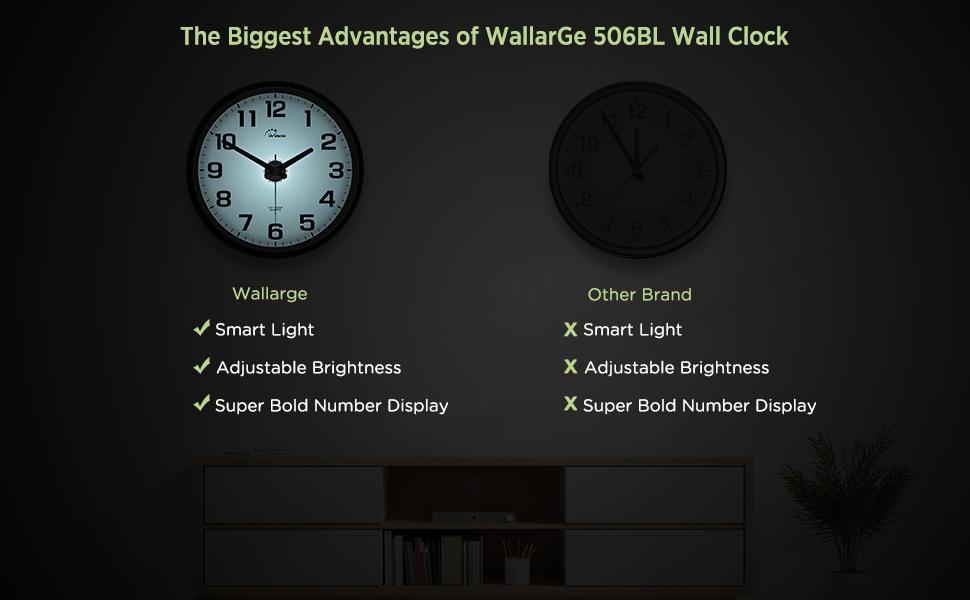 wall clock with night light