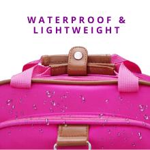 good quality lightweight hot pink light adjustable straps soft comfy back pack handle rolling weals
