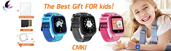 CMKJ Smart Watch with Dual HD Camera for Kids.