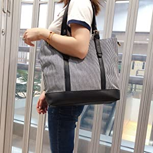 women canvas work tote bag