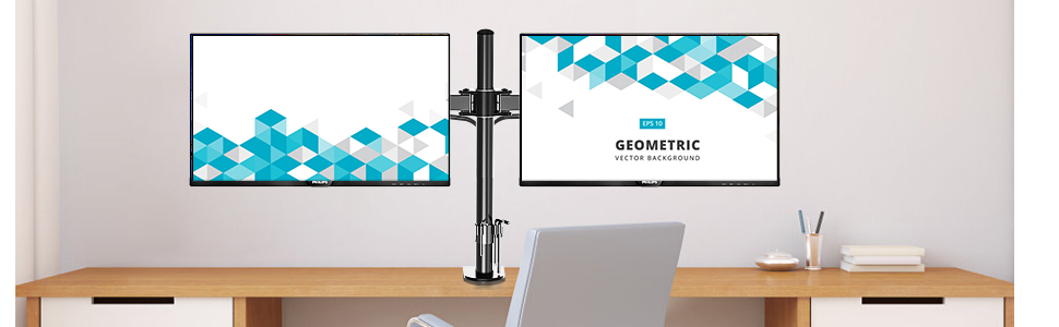 Dual Monitor Desk Mount Stand