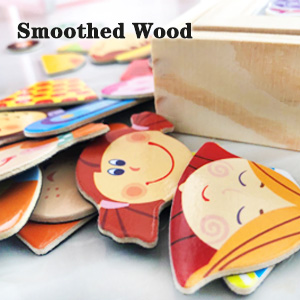 smoothed wood